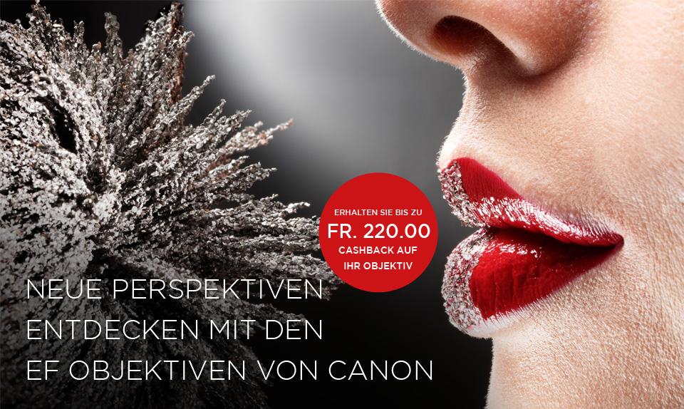 Canon Switzerland Lens Cash Back 2016